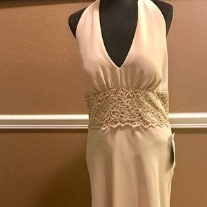 New Macy's lace Halter dress